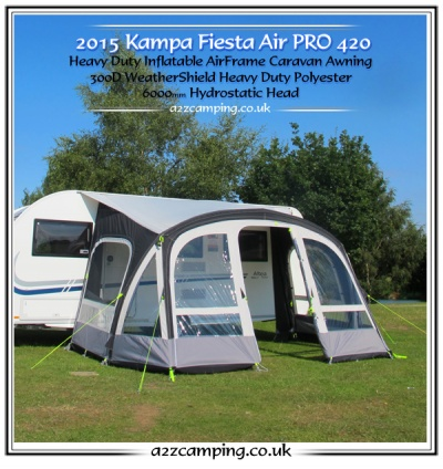 New 2015 Model Kampa Fiesta Rally Air 420 Pro Large